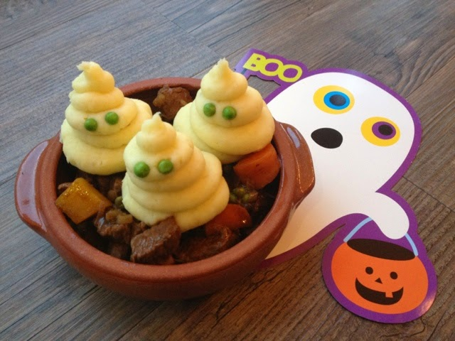 Ghostly Potatoes - Pumpkins & Halloween Food - Recipes, Ideas and Inspiration
