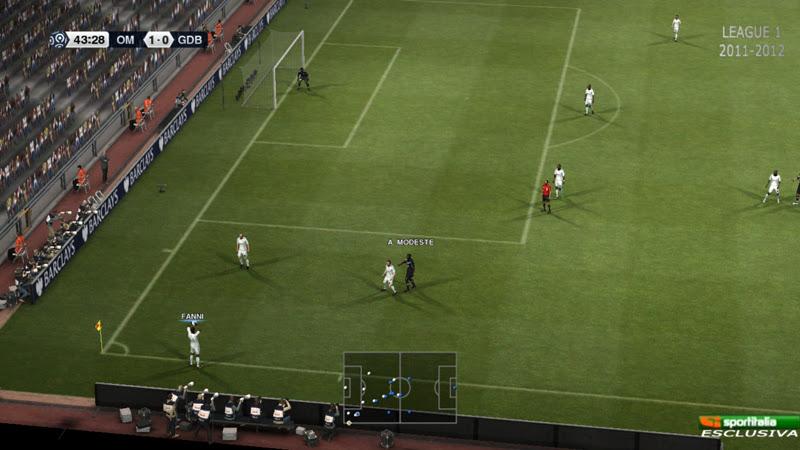 Scoreboard League 1 Sportitalia - PES 2012