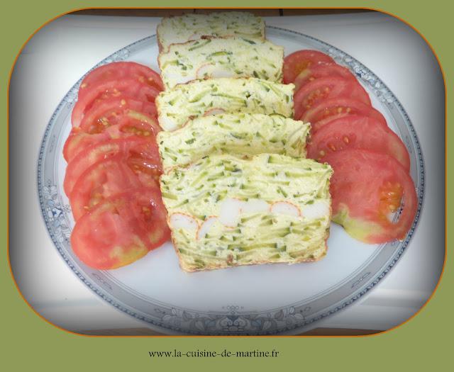 Cake Surimi Courgette Facon Flan