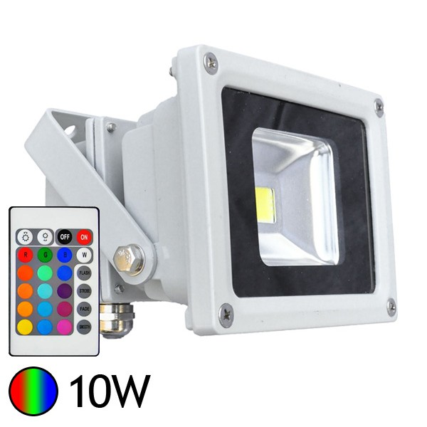 D ballage d 39 un projecteur led 16 couleurs avec t l commande for Spot led exterieur couleur