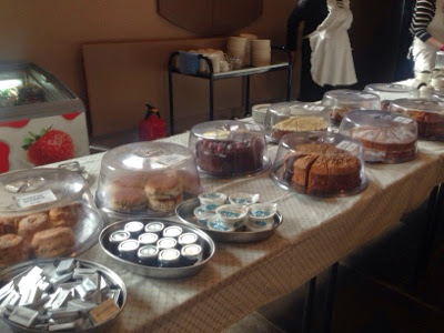 Homemade cakes at Ormesby hall, A National trust property near Middlesbrough