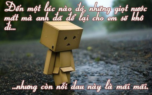Status giọt nước mắt rơi khi chia tay