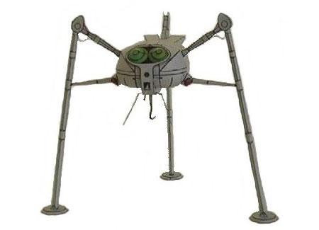 War of the Worlds Papercraft Martian Tripod