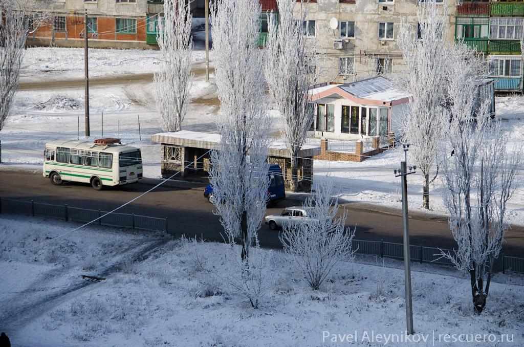 Автобусная остановка, Торез