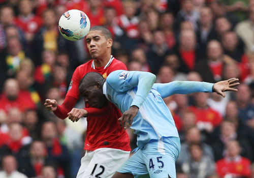 Mario Balotelli vs Chris Smalling, Manchester United - Manchester City