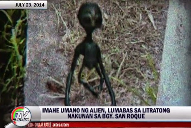 Photos of Alien in Laguna Reported on TV Patrol and 24 Oras