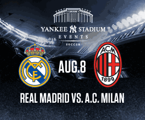 Live online football streaming: Watch Real Madrid v AC Milan (Friendly in the Yankee Stadium)