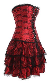 Red & Black Corset Dress Set 2