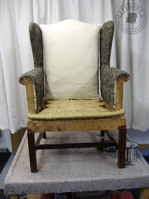 Lefebvre 39 s upholstery my furniture is stuffed with what for Small stuffed chairs