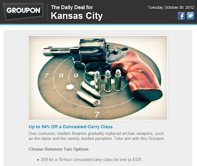 Discount check out the groupon kansas city gun deal of the day