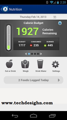MapMyFitness android app