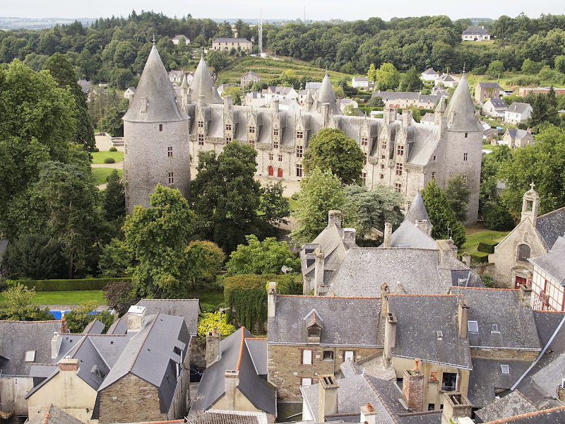 View over Josselin from the church tower