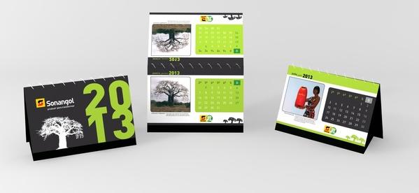 desain kalender meja perusahaan 2013