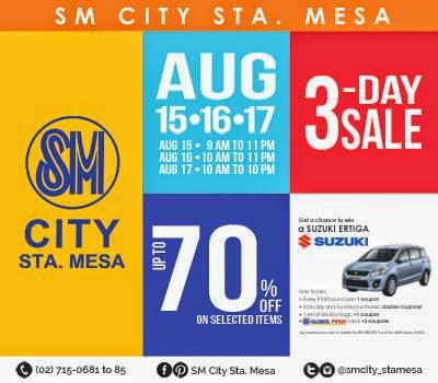 10595967 10202469500239907 2016860563 n SM City Sta. Mesa 3 Day SALE!