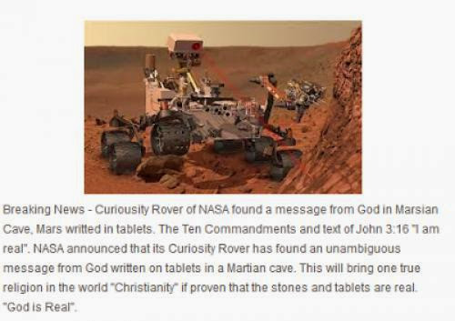 God Message Discovered In Cave Of Mars