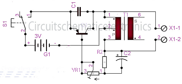 Fish caller electronics circuit