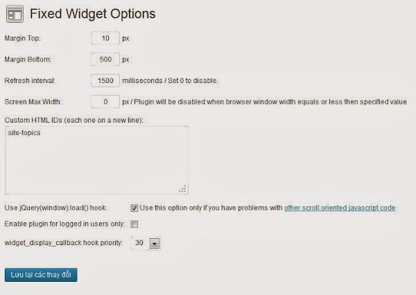 Cách tạo Widget trượt trong Wordpress đơn giản 3