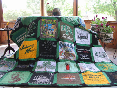 The Luck of the Irish: A traditional full sized  quilt