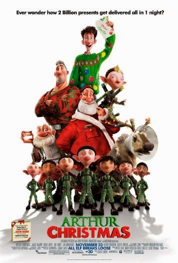 Poster Of Arthur Christmas (2011) Full Movie Hindi Dubbed Free Download Watch Online At Alldownloads4u.Com