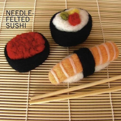 needle felting sushi