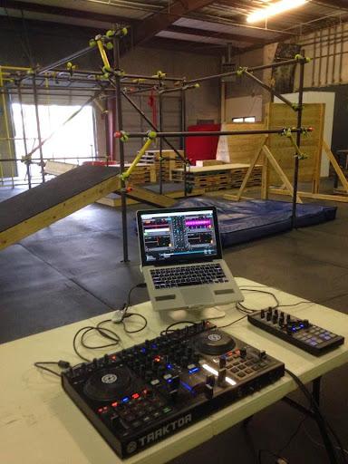 DJing the Parkour Festival, Austin, TX. Marc Freccero