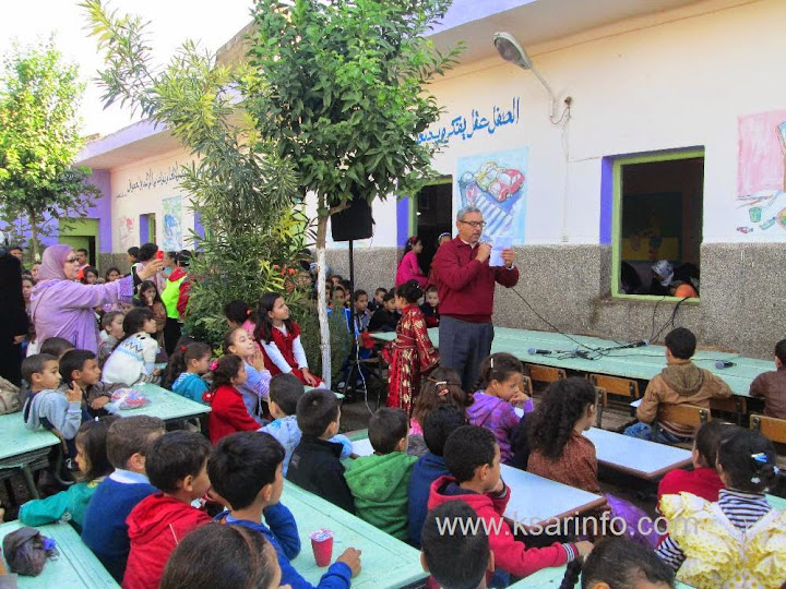 القصر الكبير :احتفال مدرسة المرحوم عبد القادر السدراوي بالذكرى 59 لعيد الاستقلال