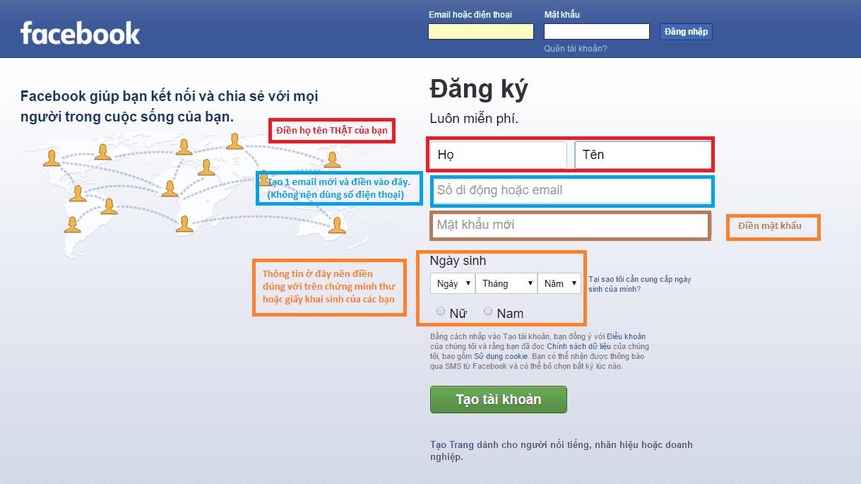 Hướng dẫn tạo tài khoản Facebook không bị xác minh danh tính trong quá trình sử dụng
