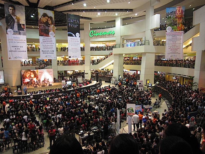 fans waiting for the actors of the movie 'It Takes a Man and a Woman' at Trinoma's Activity Center