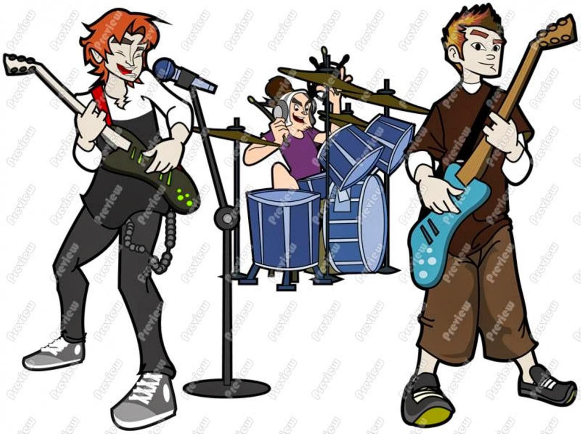 free cartoon rock band clipart - photo #1