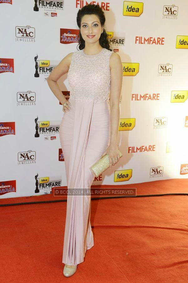 Hamsa Nandini at the 61st Idea Filmfare Awards South, held at Jawaharlal Nehru Stadium in Chennai, on July 12, 2014.