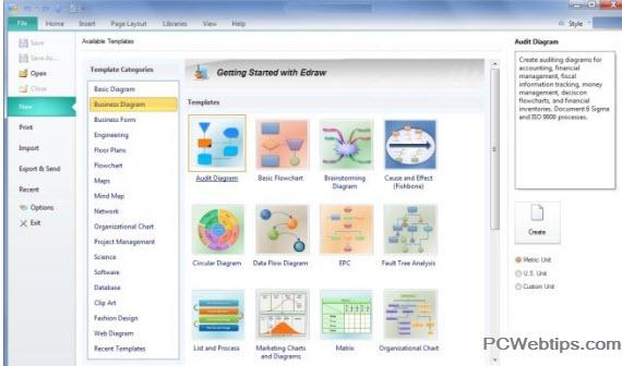 Edraw crear diagramas de flujo con integracion ms office cuenta con varias categoras para la creacin de diagramas de flujo diagramas de negocios mapas mentales diagramas cientficos software y modelos de ccuart Choice Image