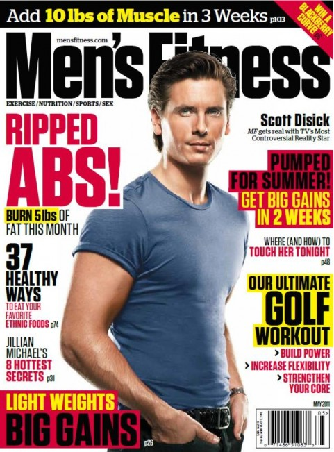 "Scott Disick Covers ""Men's Fitness"" Magazine"