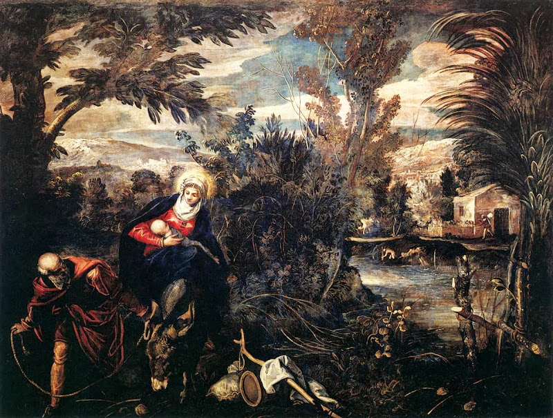 Tintoretto - The Flight into Egypt