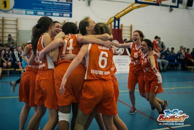команда девушек Гимназии № 2 (г. Ярославль) заняла третье место на региональном финале КЭС-Баскет Ярославской области