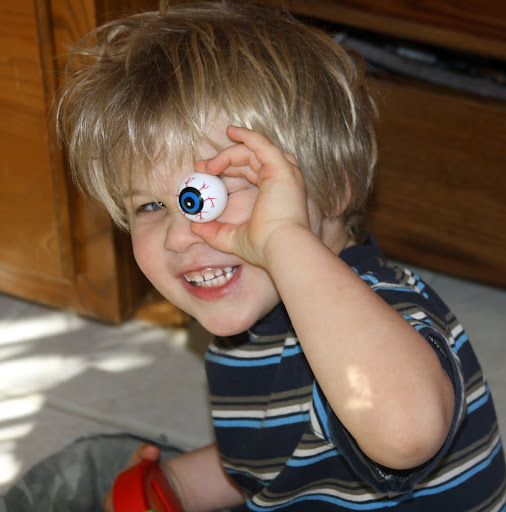 My son's favorite Halloween prize is The Eyeball.