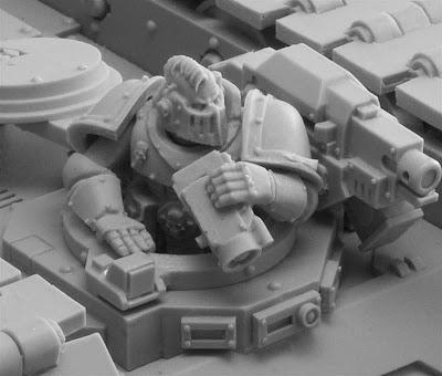 Forge World space marine vehicle crew