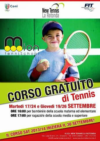 Corsi gratuiti di Tennis al New Tennis La Rotonda