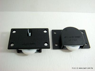 裝潢五金品名:104-PVC後崁式下輪(黑) 玖品五金