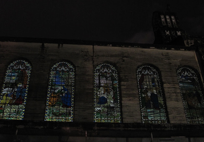 stained glass windows of Mt. Carmel Shrine