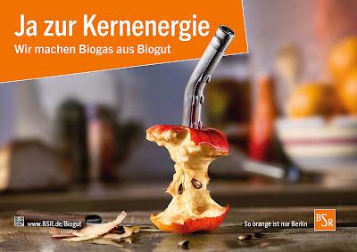 Berlin. Plakat promujący wykorzystanie biometanu dla pojazdów