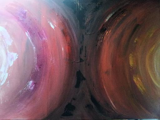 """""""Zon en maan"""" € 39,- (60x80cm)"""