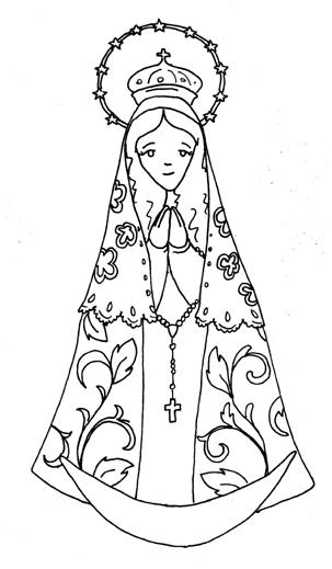 Virgen de Itati para colorear