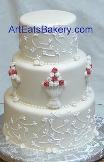3 Tier Wedding Cakes 36 Good Modern off white wedding