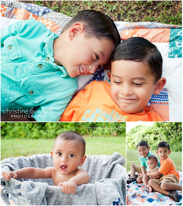 Photos of three brothers, 6 months to almost 6 years