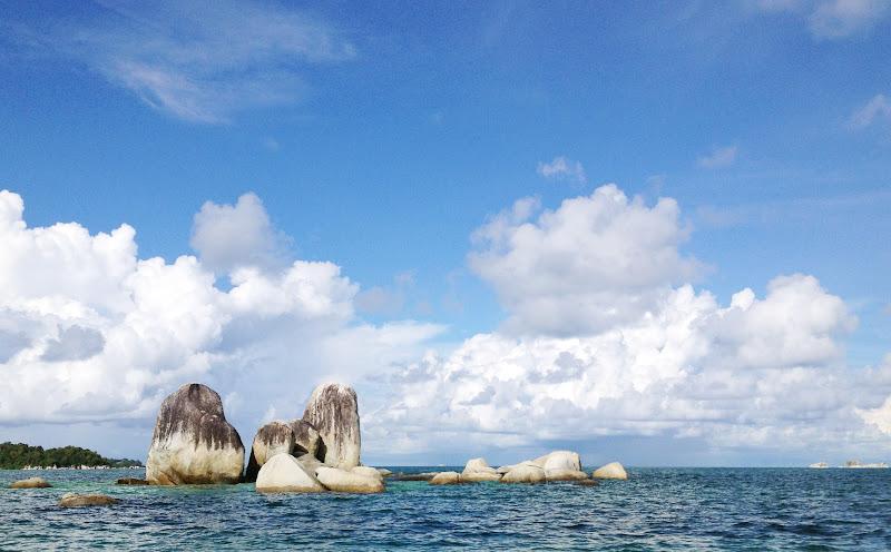 Rocky outcrops off Belitung, Island