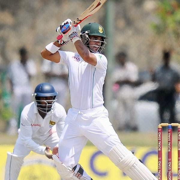 South Africa cricketer JP Duminy plays a shot during the second day of the opening Test match between Sri Lanka and South Africa at the Galle International Cricket Stadium in Galle on July 17, 2014.