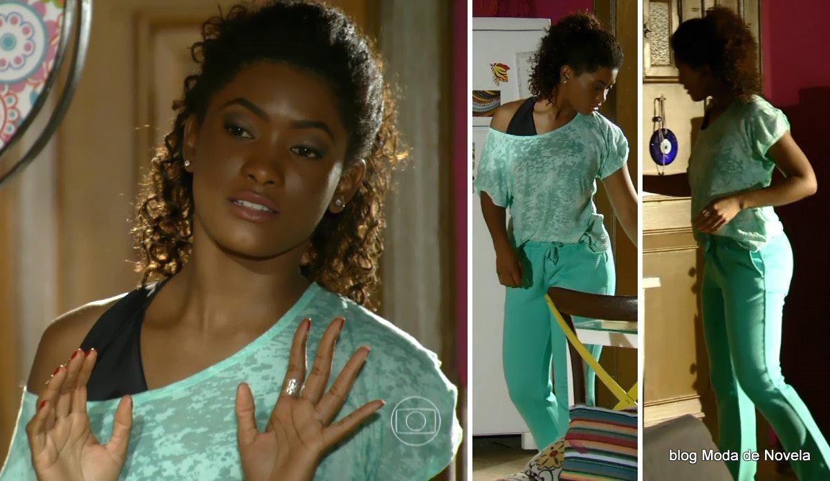 moda da novela Em Família - look da Alice dia 9 de junho