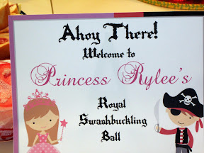 Rylee's Princess and Pirate party