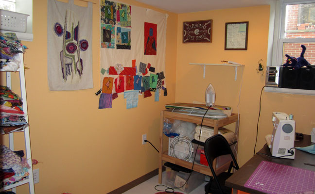 sewing room from door