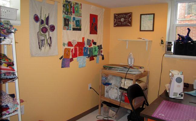 sewing room from door